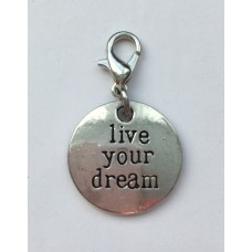 "Klik-aan hanger ""live your dream"""