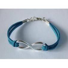 Infinity (oneindigheid) armband jeansblauw