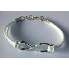 Infinity (oneindigheid) armband wit