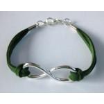 Infinity (oneindigheid) armband donkergroen
