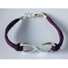 Infinity (oneindigheid) armband donkerpaars
