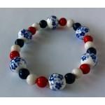 Hollandse armband rood/wit/blauw