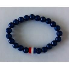 Armband blauw met holland kraal