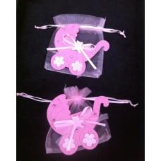 Cadeau geboorte zakje meisje 12 x10 cm