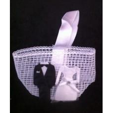 Cadeau tasje bruidspaar 8 x 6 x 4 cm