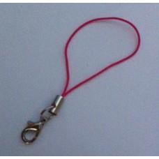 Telefoon koordje met slotje fel roze 65 mm